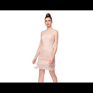 NEW Betsey Johnson pink lace knee retro dress 14